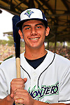 24 June 2008: Vermont Lake Monsters infielder Nick Arata. Baseball Card Image for 2008. For in-house use by the Vermont Lake Monsters Only. Editorial or other use of images by other publications or media outlets must secure licensing from the photographer Ed Wolfstein prior to publication, and is based on standards of circulation, and placement in a given publication...Mandatory Credit: Ed Wolfstein.