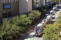 Capital MetroRail offers passenger rail service weekdays between the City of Leander and downtown Austin, Texas.