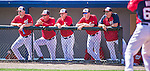 11 March 2014: The Washington Nationals Coaching Staff watch play from the dugout during a Spring Training game against the New York Yankees at Space Coast Stadium in Viera, Florida. The Nationals defeated the Yankees 3-2 in Grapefruit League play. Mandatory Credit: Ed Wolfstein Photo *** RAW (NEF) Image File Available ***