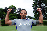 Kahn Fotuali'i of Bath Rugby in action during a Bath Rugby photoshoot on June 21, 2016 at Farleigh House in Bath, England. Photo by: Patrick Khachfe / Onside Images