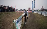 Wout Van Aert (BEL/Crelan-Willems)<br /> <br /> Elite Men's race<br /> CX Superprestige Noordzeecross <br /> Middelkerke / Belgium 2017