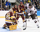 Kenny Reiter (Duluth - 35) (JConnolly) Justin Faulk (Duluth - 25), Jeremy Welsh (Union - 27) - The University of Minnesota-Duluth Bulldogs defeated the Union College Dutchmen 2-0 in their NCAA East Regional Semi-Final on Friday, March 25, 2011, at Webster Bank Arena at Harbor Yard in Bridgeport, Connecticut.
