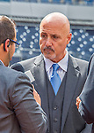 7 April 2016: Washington Nationals General Manager & President of Baseball Operations Mike Rizzo chats with the media prior to their Home Opening Game against the Miami Marlins at Nationals Park in Washington, DC. The Marlins defeated the Nationals 6-4 in their first meeting of the 2016 MLB season. Mandatory Credit: Ed Wolfstein Photo *** RAW (NEF) Image File Available ***