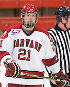 Marshall Everson (Harvard - 21) - The visiting Quinnipiac University Bobcats defeated the Harvard University Crimson 3-1 on Wednesday, December 8, 2010, at Bright Hockey Center in Cambridge, Massachusetts.