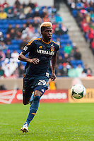 Gyasi Zardes (29) of the Los Angeles Galaxy. The New York Red Bulls defeated the Los Angeles Galaxy 1-0 during a Major League Soccer (MLS) match at Red Bull Arena in Harrison, NJ, on May 19, 2013.