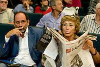 Roma 8 Settembre 2013<br /> Assemblea  in difesa della Costituzione.<br /> Antonio Ingroia,Azione Civile, Luciana Castellina