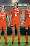 27 October 2016: Clemson's Jenna Weston. The Duke University Blue Devils hosted the Clemson University Tigers at Koskinen Stadium in Durham, North Carolina in a 2016 NCAA Division I Women's Soccer match. Clemson won the game 1-0.
