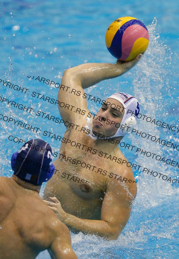 Gavril Subotic Vaterpolo svetska liga Srbija - Francuska, world league waterpolo, Serbia - France Oktobar 20. 2015 Beograd, Srbija, 20.10.2015.  (credit image & photo: Pedja Milosavljevic / STARSPORT)