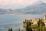 Varenna, Italy with Menaggio in the background; Lake Como