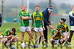 Adrian Royle,John P O'mahony and Seanie Murnane Kilmoyley are shattered after their defeat to Lismore in the Munster Intermediate final in Mallow on Saturday