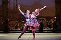 London, UK. 12.01.2016. English National Ballet present Le Corsaire, at the London Coliseum. Picture shows: Cesar Corrales (Birbanto), Anjuli Hudson (Lead Villager). Photograph © Jane Hobson.