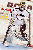 Parker Milner (BC - 35) - The Boston College Eagles tied the visiting Yale University Bulldogs 3-3 on Friday, January 4, 2013, at Kelley Rink in Conte Forum in Chestnut Hill, Massachusetts.