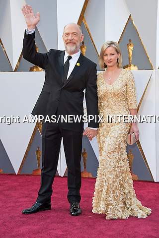 28.02.2016; Hollywood, California: 88th OSCARS - J.K. SIMMONS<br /> attend the 88th Annual Academy Awards at the Dolby Theatre&reg; at Hollywood &amp; Highland Center&reg;, Los Angeles.<br /> Mandatory Photo Credit: &copy;Ampas/Newspix International<br /> <br /> PHOTO CREDIT MANDATORY!!: NEWSPIX INTERNATIONAL(Failure to credit will incur a surcharge of 100% of reproduction fees)<br /> <br /> IMMEDIATE CONFIRMATION OF USAGE REQUIRED:<br /> Newspix International, 31 Chinnery Hill, Bishop's Stortford, ENGLAND CM23 3PS<br /> Tel:+441279 324672  ; Fax: +441279656877<br /> Mobile:  0777568 1153<br /> e-mail: info@newspixinternational.co.uk<br /> All Fees To: Newspix International