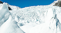 Main Icefall of Franz Josef Glacier in winter, Westland Tai Poutini National Park, West Coast, UNESCO World Heritage Area, New Zealand, NZ