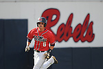 Mississippi's Matt Snyder hits a grand slam vs. LSU in a college baseball in Oxford, Miss. on Saturday, April 23, 2010. (AP Photo/Oxford Eagle, Bruce Newman)