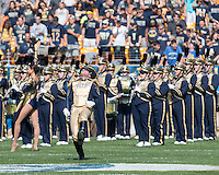 Pitt drum major Stephen Ruzzini. Iowa Hawkeyes defeated the Pitt Panthers 24-20 at Heinz Field, Pittsburgh Pennsylvania on September 20, 2014.