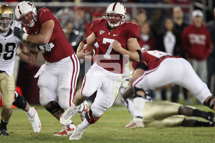 STANFORD, CA - NOVEMBER 28:  Toby Gerhart of the Stanford Cardinal during Stanford's 45-38 win over the Notre Dame Fighting Irish on November 28, 2009 at Stanford Stadium in Stanford, California.