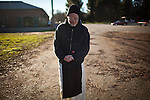 The New Clairvaux Abbot Paul Mark Schwan walks at their monastery in Vina, Calif., January 2, 2013. Their Chapter House is built from 12th century stones from the Chapter House of Ovila in Spain. Originally purchased by William Randolph Hearst, they were left abandoned in Golden Gate Park for over 60 years.