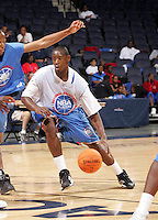 PF Clarence Trent (Gig Harbor, WA / Gig Harbor) drives the ball during the NBA Top 100 Camp held Friday June 22, 2007 at the John Paul Jones arena in Charlottesville, Va. (Photo/Andrew Shurtleff)