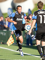 Ramiro Corrales of Earthquakes in action during the game against the Sounders at Buck Shaw Stadium in Santa Clara, California on July 31st, 2010.   Seattle Sounders defeated San Jose Earthquakes, 1-0.