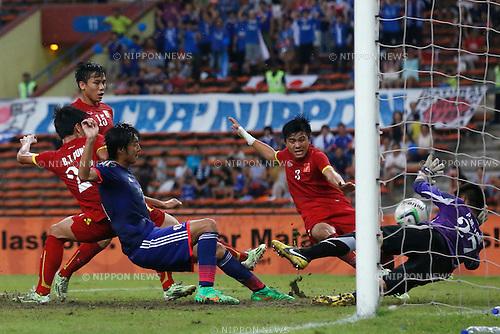 Takaharu Nishino (JPN), MARCH 29, 2015 - Football / Soccer : AFC U-23 Championship 2016 Qualification Group I match between U-22 Japan 2-0 U-22 Vietnam at Shah Alam Stadium in Shah Alam, Malaysia. (Photo by Sho Tamura/AFLO SPORT)