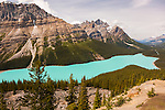 Peyto Lake and the Waputik Range, Banff National Park, Alberta,Canada