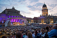 Berlin Classic Open Air concerts are held every summer in the restored Gendarmenmarkt square which was heavily damaged during the Second World War (WWII). The concerts feature some of the world's top orchestras and opera stars..