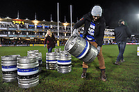 Half-time entertainment from Thatchers and Bath Ales. Aviva Premiership match, between Bath Rugby and Gloucester Rugby on February 5, 2016 at the Recreation Ground in Bath, England. Photo by: Patrick Khachfe / Onside Images