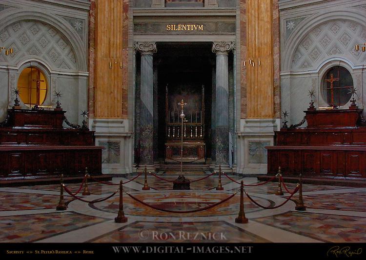 Sacristy Carlo Marchionni 1776 Ionic Columns from Hadrian's Villa at Tivoli St Peter's Basilica Rome