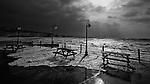 Storm surge at Freshwater Bay