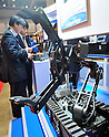 October 19, 2011, Tokyo, Japan - A remote-controlled robot for bomb and radioactive substance disposal are displayed during Risk Management Expo in Tokyo on Wednesday, October 19, 2011. Members of domestic and foreign law enforcement communities were among visitors to the annual security and safety trade show that covered the fields of safety, risk and crisis management, and security and crime prevention. (Photo by Natsuki Sakai/AFLO) [3615] -mis-