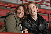 Stephanie and Vinny Saponari - The Northeastern University Huskies defeated Boston College Eagles 4-3 to repeat as Beanpot champions on Tuesday, February 12, 2013, at Matthews Arena in Boston, Massachusetts.