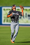 1 March 2017: Miami Marlins infielder Yefri Perez pulls in an infield fly during Spring Training action against the Houston Astros at the Ballpark of the Palm Beaches in West Palm Beach, Florida. The Marlins defeated the Astros 9-5 in Grapefruit League play. Mandatory Credit: Ed Wolfstein Photo *** RAW (NEF) Image File Available ***