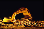 Europe, Britain, Cumbria.' Foot & Mouth' Crisis. Millions of beasts suspected of 'Foot & Mouth' are incinerated. The burnt remains will be put into landfill. 2001 .'MEAT' across the World..foto © Nigel Dickinson
