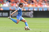 Houston, TX - Saturday April 15, 2017: Vanessa DiBernardo clears the ball from her side of the field during a regular season National Women's Soccer League (NWSL) match won by the Houston Dash 2-0 over the Chicago Red Stars at BBVA Compass Stadium.