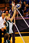 14 November 2010: Elsa Hollyer, a Junior on the VCS girls volleyball team, plays in the 2010 Vermont State Volleyball Championships at Saint Michael's College in Colchester, Vermont. Participating schools include: the Enosburg Falls Hornets, the Lake Region Union Rangers, the Lyndon Institute Vikings, and the VCS Flying Turtles. The Boys Championship went to Lake Region Union High School, and for the third year in a row, the Girls Championship went to the Vermont Commons School. Mandatory Credit: Ed Wolfstein Photo