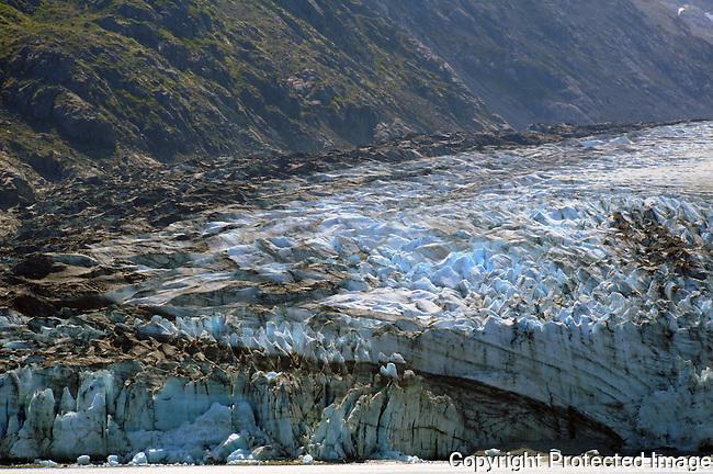 silt filled glacier in Glacier Bay National PArk
