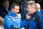 St Johnstone v Rangers....05.04.11 .Derek McInnes greets Ally McCoist.Picture by Graeme Hart..Copyright Perthshire Picture Agency.Tel: 01738 623350  Mobile: 07990 594431
