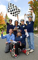 TIAA-CREF Employee Giving 2013 Trike Race, held at the the Charlotte, North Carolina office<br /> <br /> Charlotte Photographer Patrick SchneiderPhoto.com