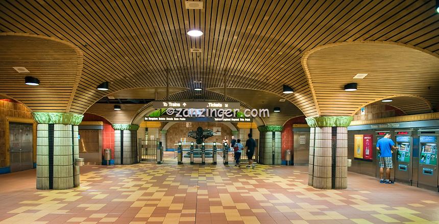 Los Angeles County Metropolitan Transportation Authority Red Line Subway, rail systems (Metro, MTA, LACMTA) train station, LA CA, California, usa,  railway, railroad, terminal, depot