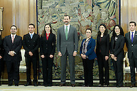 Prince Felipe of Spain with young moroccan politicians.
