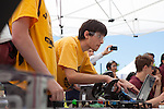 Brian Silverman drives the Mountain View High School robot during RoboNanza June 27.