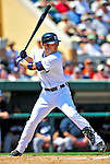 11 March 2009: Detroit Tigers' outfielder Ryan Raburn in action during a Spring Training game against the New York Yankees at Joker Marchant Stadium in Lakeland, Florida. The Tigers defeated the Yankees 7-4 in the Grapefruit League matchup. Mandatory Photo Credit: Ed Wolfstein Photo
