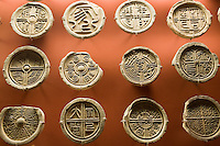 Bronze coins on display in the Shaanxi History Museum, Xian, China