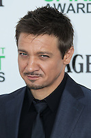 SANTA MONICA, CA, USA - MARCH 01: Jeremy Renner at the 2014 Film Independent Spirit Awards held at Santa Monica Beach on March 1, 2014 in Santa Monica, California, United States. (Photo by Xavier Collin/Celebrity Monitor)