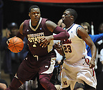 Mississippi State's Renardo Sidney (1) works against Mississippi's Reginald Buckner (23) at the C.M. &quot;Tad&quot; Smith Coliseum in Oxford, Miss. on Wednesday, January 18, 2012. (AP Photo/Oxford Eagle, Bruce Newman).