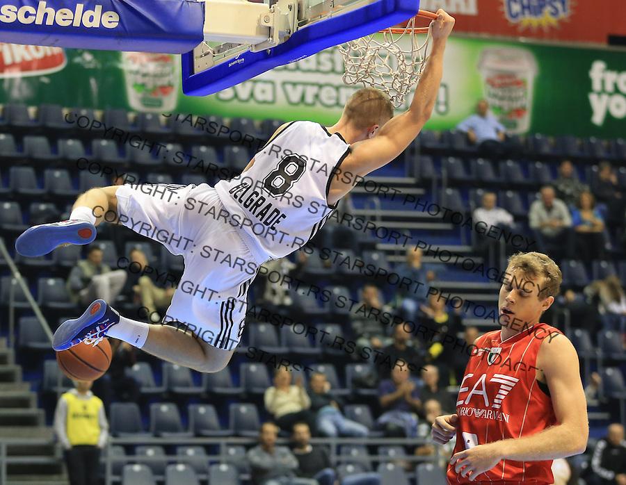 Kosarka Friendly match season 2014-2015<br /> Partizan Vs. Armani Jeans<br /> Edo Muric (L)<br /> Beograd, 25.09.2014.<br /> foto: Srdjan Stevanovic/Starsportphoto&copy;