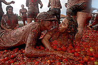 X Gran Tomatina Colombiana, Sutamarchan, Colombia. 05-06-2016.