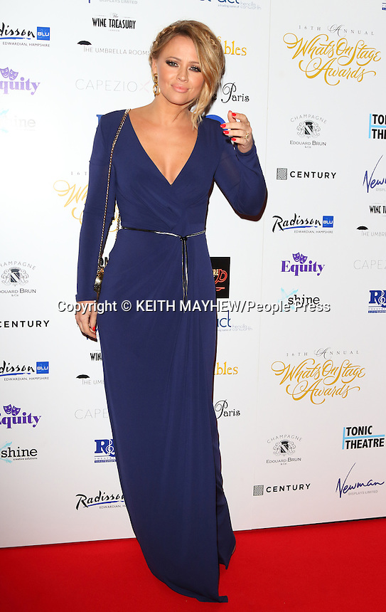 Whatsonstage Theatre Awards at the Prince of Wales Theatre, London on February 21st 2016<br /> <br /> Photo by Keith Mayhew