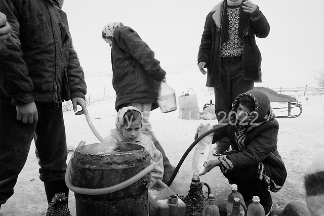 Certeze, Maramures<br /> Romania<br /> December 30, 1991<br /> <br /> Taking water.